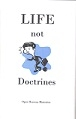 Book LIFE, not Doctrines